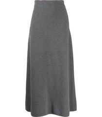 le kasha melrose cashmere skirt - grey
