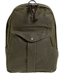 men's filson 'journeyman' coated canvas backpack - green