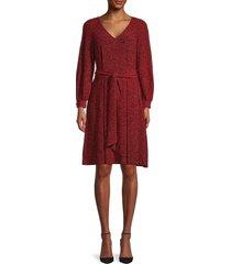 calvin klein women's glitter belted dress - red - size 4