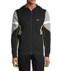 colorblock front-zip hoodie