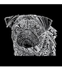 la pop art women's premium word art flowy tank top- pug face