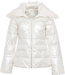 giacca trapuntata lucida (bianco) - bodyflirt boutique