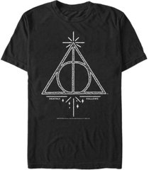 fifth sun harry potter men's deathly hallows line sketch short sleeve t-shirt