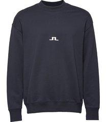 hector-jljl sweat sweat-shirt tröja blå j. lindeberg