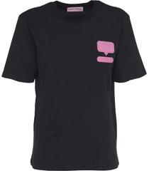 chiara ferragni black eyelike patch t-shirt