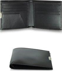 pineider designer men's bags, 1949 small black leather men's wallet