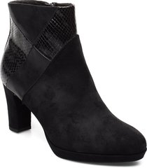 boots shoes boots ankle boots ankle boot - heel svart tamaris