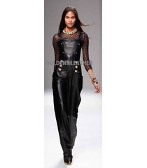 women pure leather jumpsuit genuine lambskin catsuit romper all color tailor-203