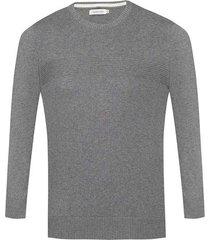 suéter tejido con cuello redondo regular fit para hombre 96959
