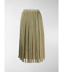 fendi mini karligraphy motif pleated skirt