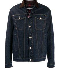 dsquared2 dark wash denim jacket - blue
