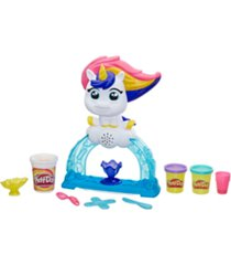closeout! play-doh tootie the unicorn ice cream set with 3 non-toxic colors featuring play-doh color swirl compound