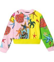 young versace color-block design sweatshirt