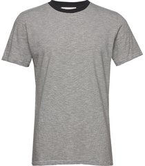 the organic multistriped tee t-shirts short-sleeved grå by garment makers