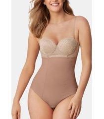 leonisa women's high-waist control thong 012939