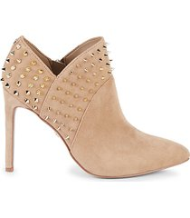 wally studded suede booties