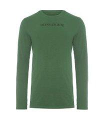 camiseta masculina logo básico - verde