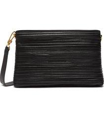 'adria small' pleated vegan leather crossbody bag