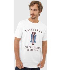 camiseta yachtsman lettering branca - branco - masculino - algodã£o - dafiti