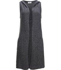 gilet in maglia lungo con cotone riciclato (grigio) - bpc bonprix collection