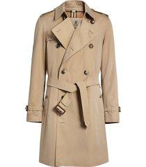 burberry chelsea heritage midi trench coat - neutrals