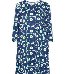 aretta mini unikot dress jurk knielengte blauw marimekko