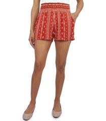 be bop juniors' smocked-waist soft shorts