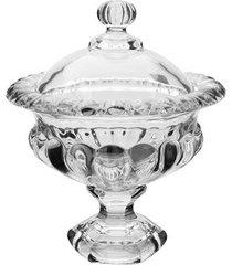 bomboniere com pé em cristal ecológico l' hermitage athenas 14,5cm