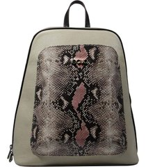 mochila de couro recuo fashion bag cacau