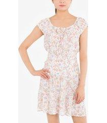 hippie rose juniors' floral-print mini skirt