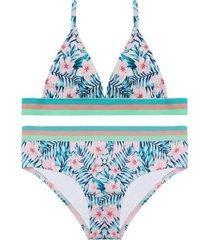 bikini teens uv30 banda elastica flores  h2o wear