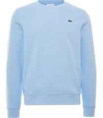 lacoste organic cotton crew neck sweatshirt | blue | sh1505-gn2