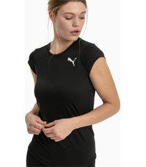 active t-shirt voor dames, zwart, maat l   puma