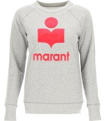 isabel marant étoile milly logo flock sweatshirt