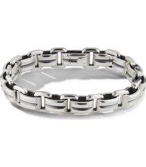 david yurman 7.5mm beveled link bracelet - silver