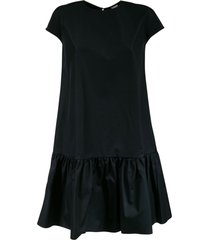 aspesi capped sleeve short dress