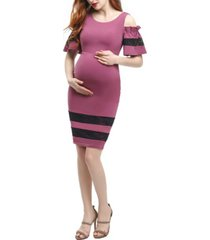 kimi + kai marissa maternity cold shoulder sheath dress