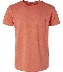no excess t-shirt s/sl, r-neck, garm dyed slu peach