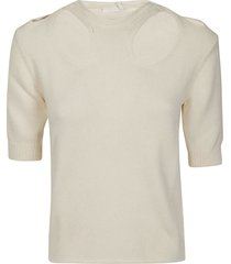 chloé slim cut-out knit pullover