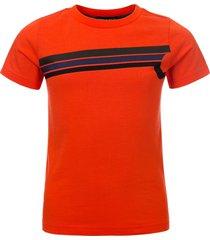 common heroes t-shirt oranje met logo voor jongens in de kleur