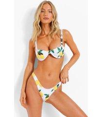 bikini top met vollere cups, beugel en vierkante hals, white