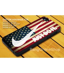 american flag white just do it nike iphone 7 7+ 6 6s 6+ 6s+ 5 5s 5c 4 4s case