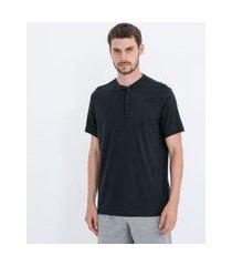 camiseta pijama com botões | viko | preto | p