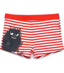 swimsuit stripe badshorts röd mumin