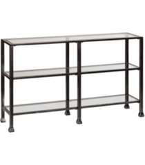 metal/glass 3-tier console table