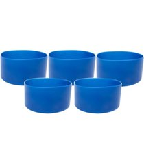 mind reader silicone hydro bottle sleeve cup holder, pack of 5