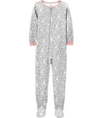 carter's big girl 1-piece dancer fleece footie pjs