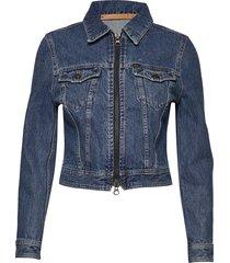truth zip jeansjack denimjack blauw tiger of sweden jeans