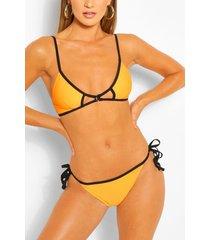 cut out triangle bikini, orange