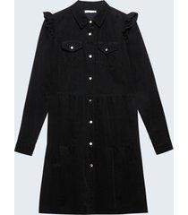 motivi vestito chemisier in velluto donna nero